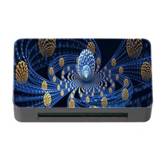 Fractal Balls Flying Ultra Space Circle Round Line Light Blue Sky Gold Memory Card Reader With Cf by Mariart