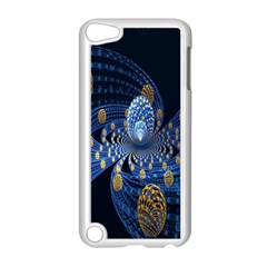 Fractal Balls Flying Ultra Space Circle Round Line Light Blue Sky Gold Apple Ipod Touch 5 Case (white) by Mariart
