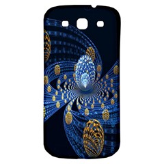 Fractal Balls Flying Ultra Space Circle Round Line Light Blue Sky Gold Samsung Galaxy S3 S Iii Classic Hardshell Back Case by Mariart