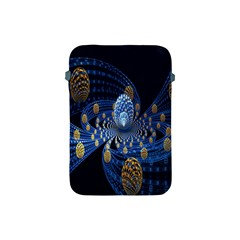 Fractal Balls Flying Ultra Space Circle Round Line Light Blue Sky Gold Apple Ipad Mini Protective Soft Cases