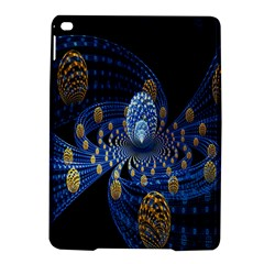 Fractal Balls Flying Ultra Space Circle Round Line Light Blue Sky Gold Ipad Air 2 Hardshell Cases by Mariart