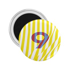Number 9 Line Vertical Yellow Red Blue White Wae Chevron 2 25  Magnets by Mariart