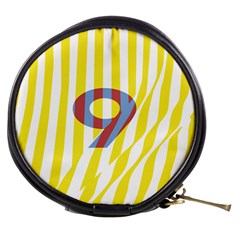 Number 9 Line Vertical Yellow Red Blue White Wae Chevron Mini Makeup Bags by Mariart