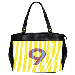 Number 9 Line Vertical Yellow Red Blue White Wae Chevron Office Handbags (2 Sides)  by Mariart