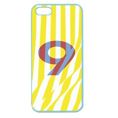 Number 9 Line Vertical Yellow Red Blue White Wae Chevron Apple Seamless Iphone 5 Case (color) by Mariart