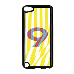 Number 9 Line Vertical Yellow Red Blue White Wae Chevron Apple Ipod Touch 5 Case (black) by Mariart