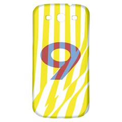 Number 9 Line Vertical Yellow Red Blue White Wae Chevron Samsung Galaxy S3 S Iii Classic Hardshell Back Case by Mariart