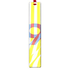 Number 9 Line Vertical Yellow Red Blue White Wae Chevron Large Book Marks by Mariart