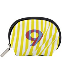 Number 9 Line Vertical Yellow Red Blue White Wae Chevron Accessory Pouches (small)  by Mariart
