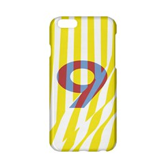 Number 9 Line Vertical Yellow Red Blue White Wae Chevron Apple Iphone 6/6s Hardshell Case by Mariart