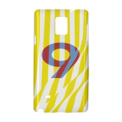 Number 9 Line Vertical Yellow Red Blue White Wae Chevron Samsung Galaxy Note 4 Hardshell Case by Mariart