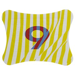 Number 9 Line Vertical Yellow Red Blue White Wae Chevron Jigsaw Puzzle Photo Stand (bow) by Mariart