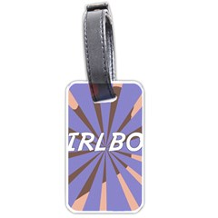 Girlboss Light Line Wave Chevron Luggage Tags (two Sides) by Mariart