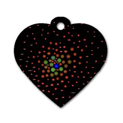 Molecular Chemistry Of Mathematical Physics Small Army Circle Dog Tag Heart (one Side) by Mariart