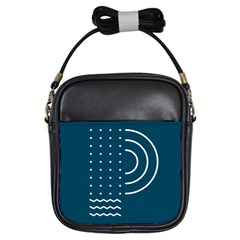 Parachute Water Blue Waves Circle White Girls Sling Bags by Mariart