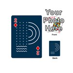 Parachute Water Blue Waves Circle White Playing Cards 54 (Mini)  Front - Diamond2