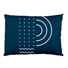 Parachute Water Blue Waves Circle White Pillow Case (two Sides) by Mariart