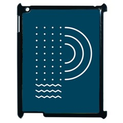 Parachute Water Blue Waves Circle White Apple Ipad 2 Case (black) by Mariart