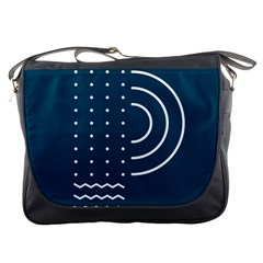 Parachute Water Blue Waves Circle White Messenger Bags by Mariart
