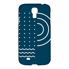 Parachute Water Blue Waves Circle White Samsung Galaxy S4 I9500/i9505 Hardshell Case by Mariart