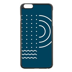 Parachute Water Blue Waves Circle White Apple Iphone 6 Plus/6s Plus Black Enamel Case by Mariart