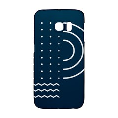 Parachute Water Blue Waves Circle White Galaxy S6 Edge by Mariart