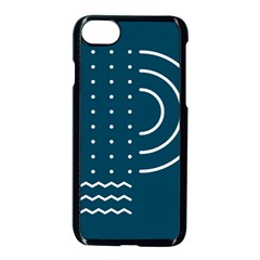 Parachute Water Blue Waves Circle White Apple Iphone 7 Seamless Case (black) by Mariart