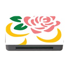 Pink Rose Ribbon Bouquet Green Yellow Flower Floral Memory Card Reader With Cf by Mariart