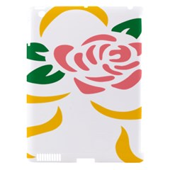 Pink Rose Ribbon Bouquet Green Yellow Flower Floral Apple Ipad 3/4 Hardshell Case (compatible With Smart Cover) by Mariart