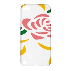 Pink Rose Ribbon Bouquet Green Yellow Flower Floral Apple Ipod Touch 5 Hardshell Case by Mariart