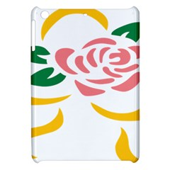 Pink Rose Ribbon Bouquet Green Yellow Flower Floral Apple Ipad Mini Hardshell Case by Mariart