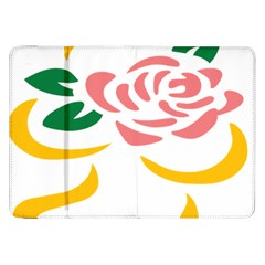 Pink Rose Ribbon Bouquet Green Yellow Flower Floral Samsung Galaxy Tab 8 9  P7300 Flip Case by Mariart