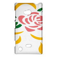 Pink Rose Ribbon Bouquet Green Yellow Flower Floral Nokia Lumia 720 by Mariart