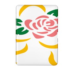 Pink Rose Ribbon Bouquet Green Yellow Flower Floral Samsung Galaxy Tab 2 (10 1 ) P5100 Hardshell Case  by Mariart