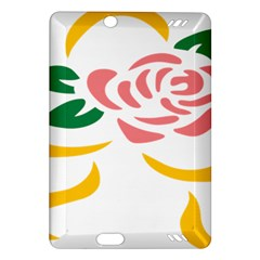 Pink Rose Ribbon Bouquet Green Yellow Flower Floral Amazon Kindle Fire Hd (2013) Hardshell Case by Mariart