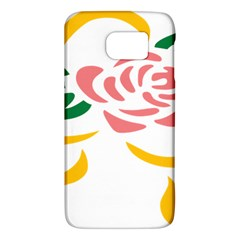 Pink Rose Ribbon Bouquet Green Yellow Flower Floral Galaxy S6 by Mariart