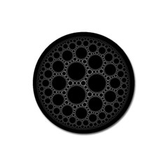 Plane Circle Round Black Hole Space Magnet 3  (round)