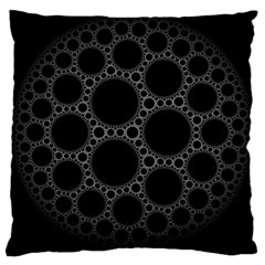 Plane Circle Round Black Hole Space Large Cushion Case (two Sides) by Mariart