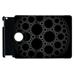 Plane Circle Round Black Hole Space Apple Ipad 2 Flip 360 Case by Mariart