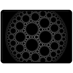 Plane Circle Round Black Hole Space Double Sided Fleece Blanket (large)  by Mariart