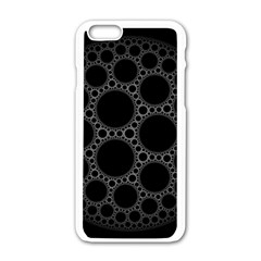 Plane Circle Round Black Hole Space Apple Iphone 6/6s White Enamel Case by Mariart