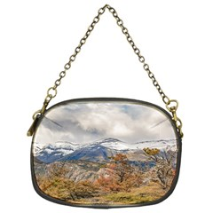 Forest And Snowy Mountains, Patagonia, Argentina Chain Purses (one Side)  by dflcprints