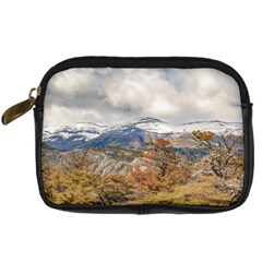 Forest And Snowy Mountains, Patagonia, Argentina Digital Camera Cases by dflcprints