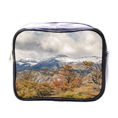 Forest And Snowy Mountains, Patagonia, Argentina Mini Toiletries Bags by dflcprints