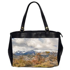 Forest And Snowy Mountains, Patagonia, Argentina Office Handbags (2 Sides)  by dflcprints