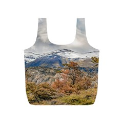 Forest And Snowy Mountains, Patagonia, Argentina Full Print Recycle Bags (s)  by dflcprints