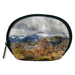 Forest And Snowy Mountains, Patagonia, Argentina Accessory Pouches (medium)  by dflcprints