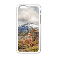 Forest And Snowy Mountains, Patagonia, Argentina Apple Iphone 6/6s White Enamel Case