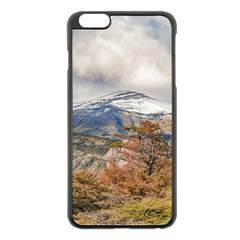 Forest And Snowy Mountains, Patagonia, Argentina Apple Iphone 6 Plus/6s Plus Black Enamel Case by dflcprints