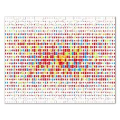Random Sized Cube Multiple Plaid Color Rainbow Rectangular Jigsaw Puzzl by Mariart